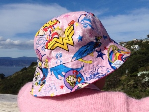 Wonder Woman, Batgirl, and Supergirl hat from Wellington