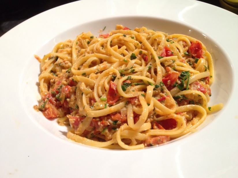 RECIPE: Crab linguine with chilli