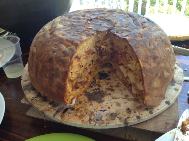 The finished 'Big Night' Timpano