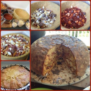 The 'Big Night' Timpano, Timballo, the big night timbale, the big night timballo, baked pasta, big night, the big night timpano, the big night timpano recipe,