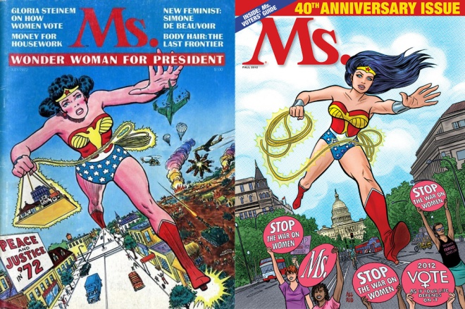 Wonder Woman, Ms. Magazine, Gloria Steinham, Disney Princess alternative, Disney Princesses alternative, alternative to Disney Princesses,