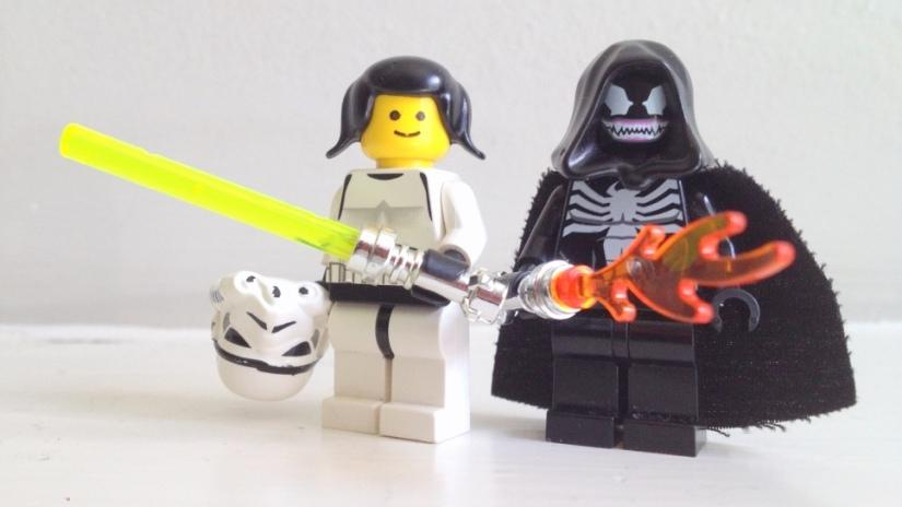 Lego, Star Wars, Princess Leia, female minifig, fangirl, Star Wars fangirl