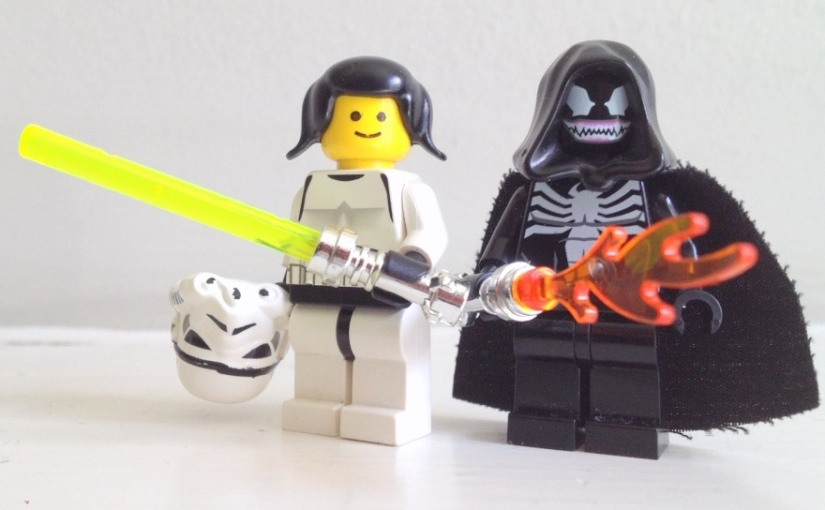 Lego, Star Wars, Princess Leia, female minifig, fangirl, Star Wars fangirl
