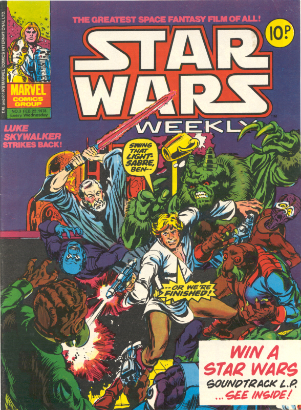 Marvel UK Star Wars Weekly Comic 1978 - issue 3