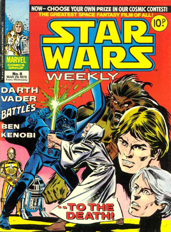 Marvel UK Star Wars Weekly Comic 1978 - issue 8