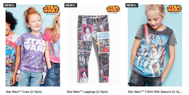 A New Hope? Next is Selling Star Wars Clothes… For Girls