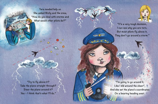 From 'Tara Binns - Eagle-Eyed Pilot' written by Lisa Rajan and illustrated by Eerika Omiyale