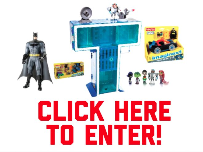 Win An Amazing Gift Set From Warner Bros., Including Teen Titans Go Action Figures & T-Tower Set, A Batman Unlimited Actions Figure, DC Super Friends Gift Set and Batmobile