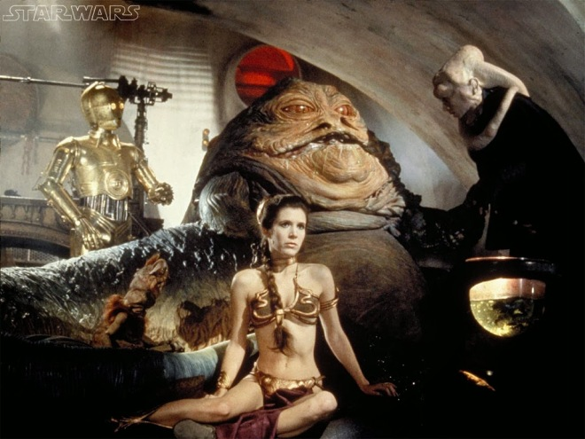 Carrie Fisher as Princess Leia in Slave Outfit Star Wars Return of the Jedi Slave Leia