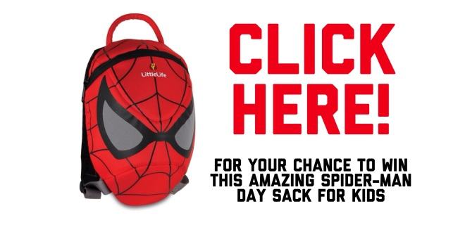 SpiderMan Day Sack LittleLife giveaway